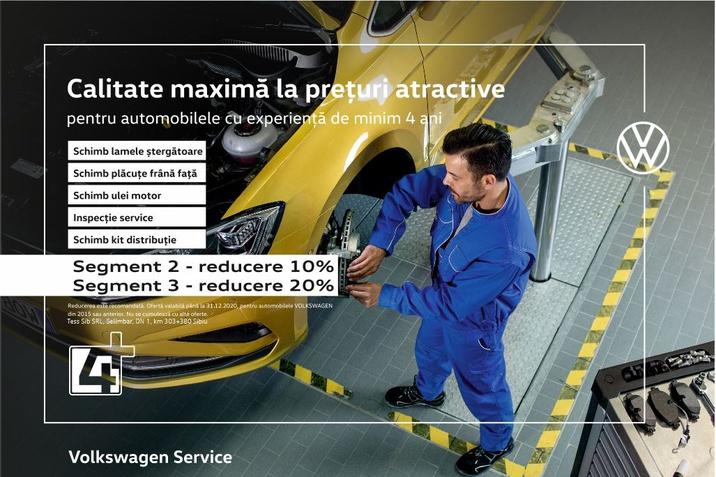 VW Intretinere perfecta la preturi speciale/2015 sau anterior
